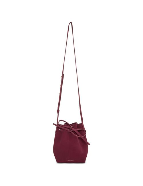 MANSUR GAVRIEL | Burgundy Suede Mini Mini Bucket Bag