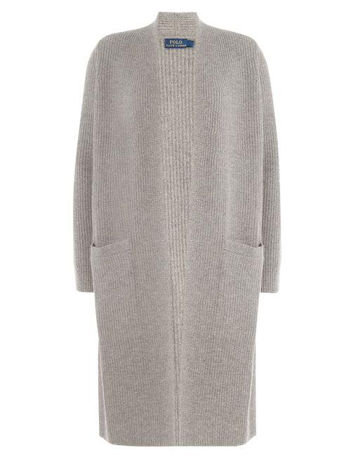 Polo Ralph Lauren | Женское Серый Merino Wool Cardigan With Cashmere Gr. M