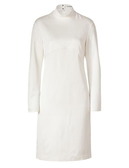 Hakaan | Женское Белый Off White Stand-Up Collar Cactier Dress Gr.