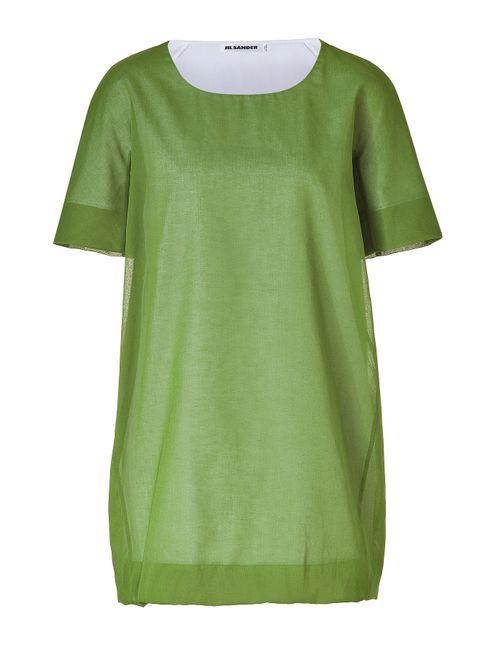 Jil Sander | Женское Зелёный Bamboo Cotton Top Gr. 34