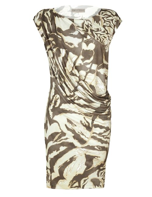 Emilio Pucci | Женское Коричневый Sabbia Draped Jersey Dress Gr. 34
