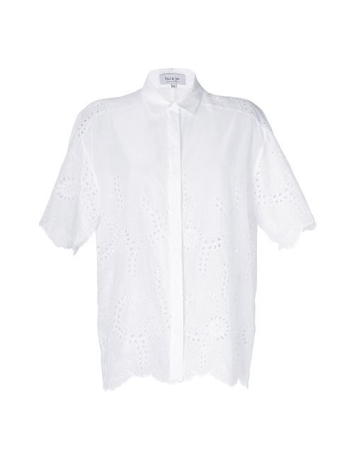Paul & Joe | Женское White Cotton Eyelet Ladyflo Shirt Gr. 34