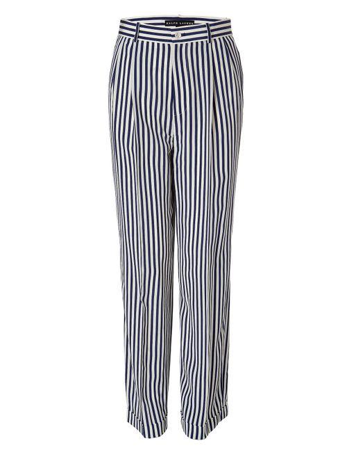 Ralph Lauren Black Label | Женское Синий Navy/Cream Anchor Striped Pants Gr. 34