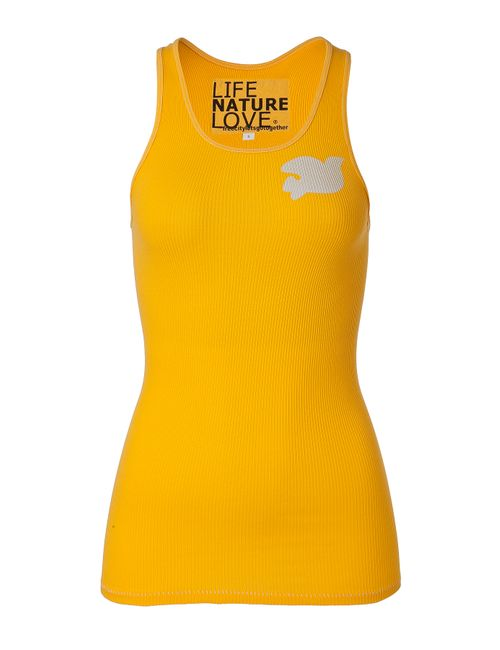 Free City | Желтый Goldendoor Yellow Cotton Logo Tank Top Gr.