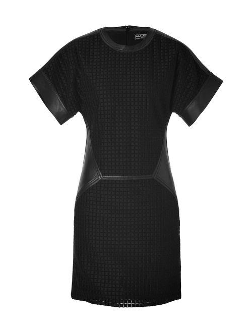 Salvatore Ferragamo | Женское Чёрный Embroidered Quilt Cotton/Leather Dress Gr. 36