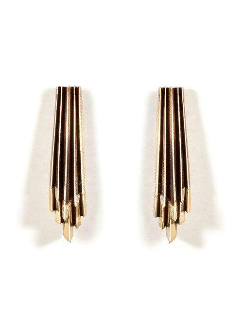 Aesa | Женское Золотой Brass Wind Wake Earrings Gr. One Size