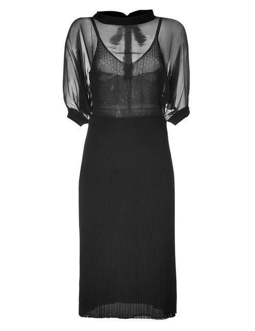 Valentino | Женское Чёрный Silk Jersey Dress In Black Gr. L