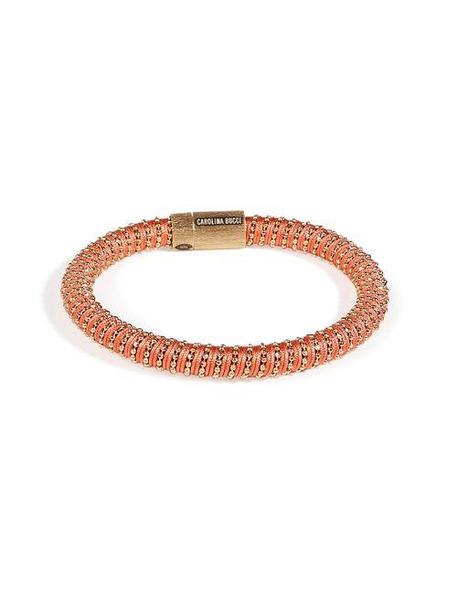 Carolina Bucci   Женское Красный Gold-Plated Twister Bracelet In Coral Gr. One