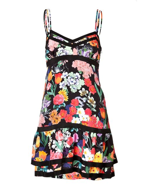Moschino | Женское Silk Floral Print Tiered Dress Gr. 36