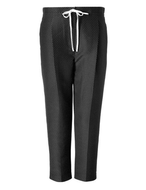 3.1 Phillip Lim   Женское Чёрный Silk-Cotton Polka Dot Drawstring Pants Gr. 8