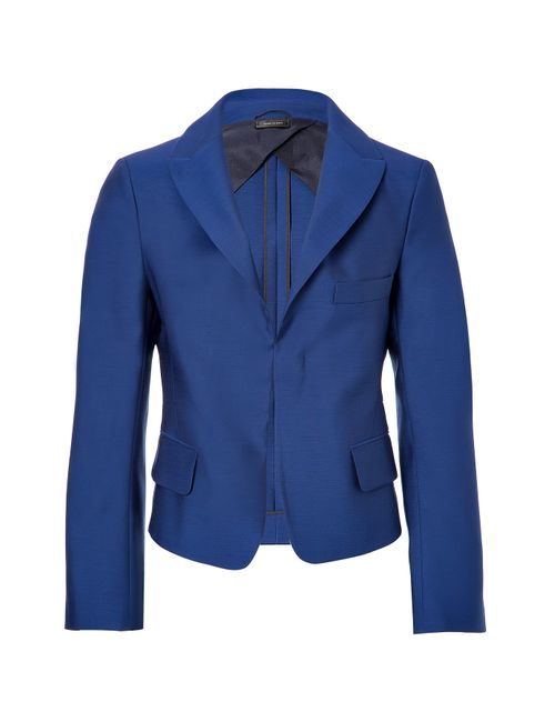 Jil Sander | Женское Синий Wool-Silk Cropped Blazer Gr. 34