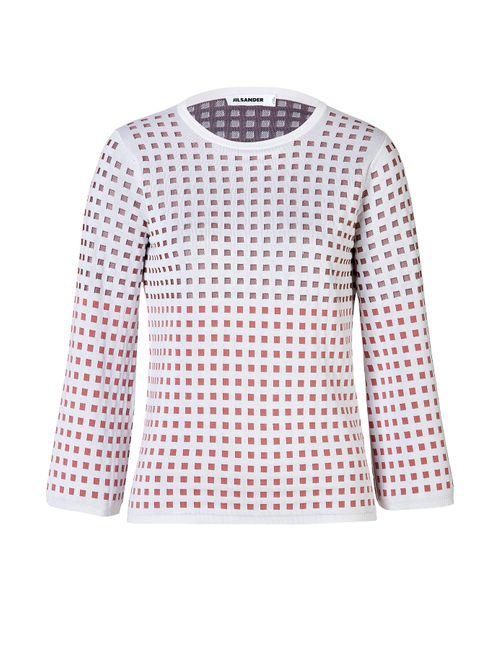 Jil Sander | Женское Многоцветный Silk-Cotton Blend Box Knit Pullover Gr. 34