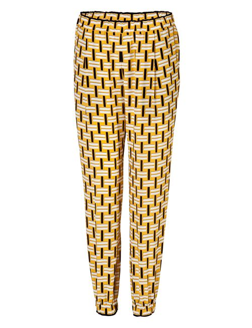 Fendi | Женское Желтый Silk Printed Pants Gr. It 38