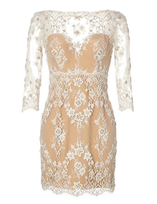 Zuhair Murad | Женское Beaded Lace Cocktail Dress Gr. 34