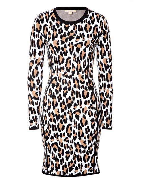 Michael Kors   Женское Animal Print Intarsia Knit Dress Gr. S