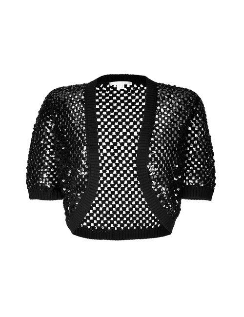 Michael Kors | Женское Cashmere Open Knit Bolero With Sequin Embellishment