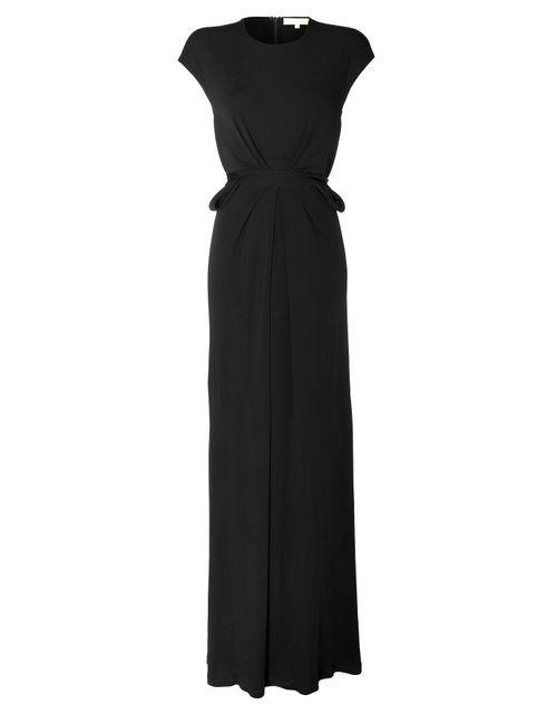 Michael Kors Collection | Женское Черный Jersey Gown With Peplum Gr. Us 2