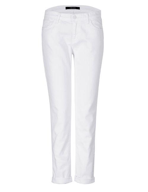 J Brand Jeans | Белый Cuffed Slim Boyfriend Jeans In Pure White