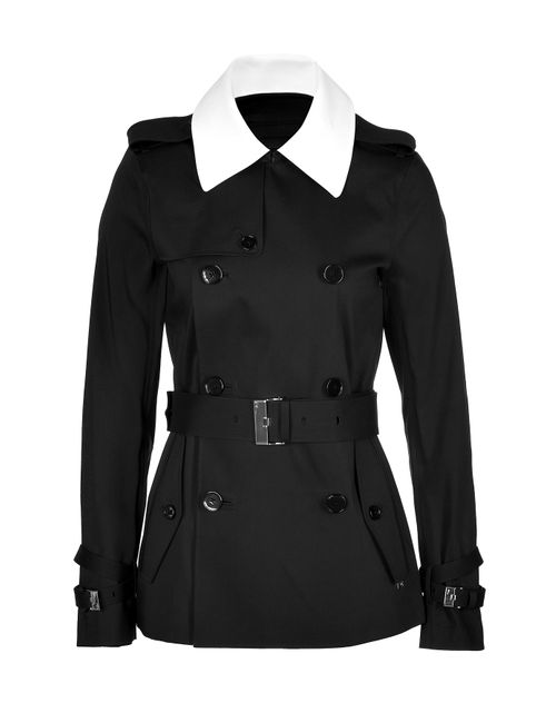 Ralph Lauren Black Label | Женское Чёрный Cotton Blend Trench Jacket Gr. 8