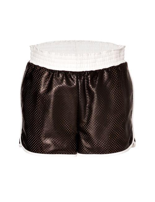Emilio Pucci | Женское Черный Mesh Leather Shorts Gr. It 40