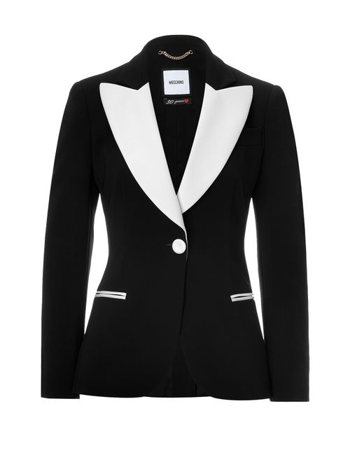 Moschino | Женское Черный Two-Tone Tuxedo Blazer Gr. It 40