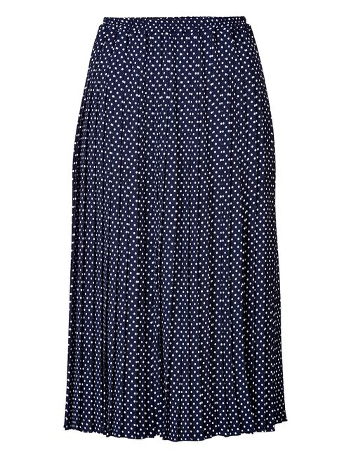 Michael Kors | Женское Синий Dot Print Pleated Midi-Skirt Gr. 40