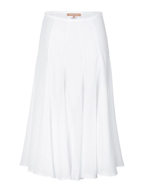 Michael Kors | Женское Белый Linen Midi Swing Skirt Gr. 40