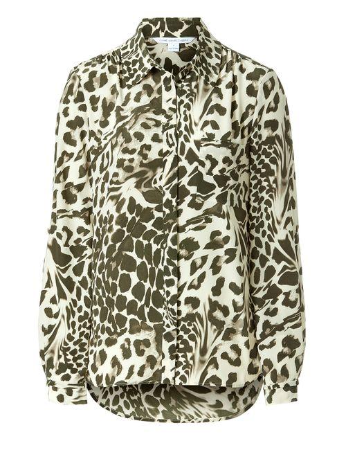 Diane Von Furstenberg | Женское Silk Leopard Print Shirt Gr. 40