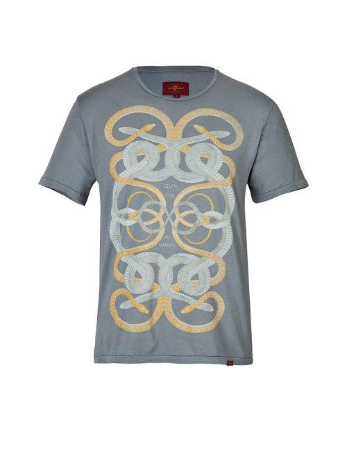 7 for all mankind | Мужское Cotton Snake Print T-Shirt Gr. S
