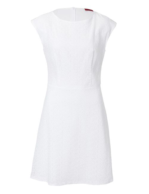 Hugo | Женское Cotton Eyelet Sheath Dress Gr. 34