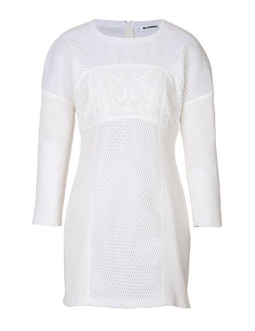 Jil Sander | Женское Белый Mesh Cocktail Dress Gr. 34