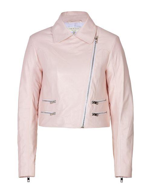 Rag & Bone | Женское Rosa Leather Cropped Biker Jacket Gr. Us 4