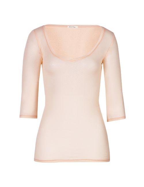 American Vintage | Женское Fine Cotton 3/4 Sleeve T-Shirt Gr. S