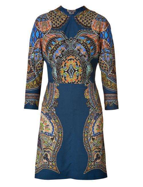 Etro | Женское Stand-Up Collar Printed Sheath Dress Gr. 34