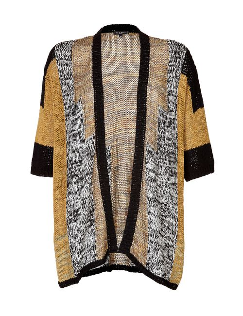 Etro | Женское Cotton Blend Open Knit Cardigan In Yellow/Black/White