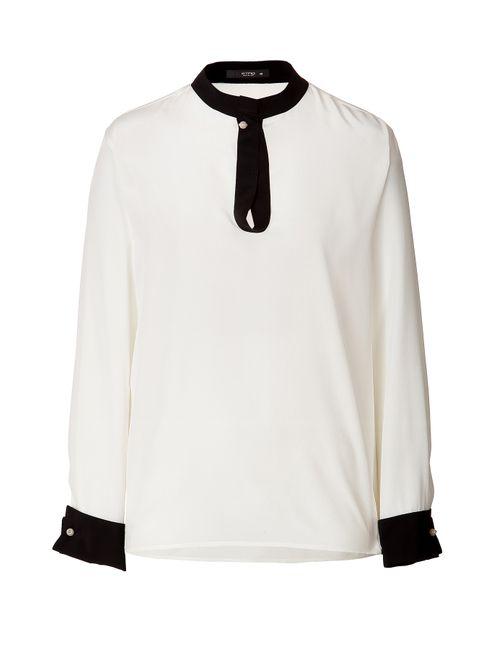 Etro | Женское Белый Silk Blouse With Solid Trim Gr. 38