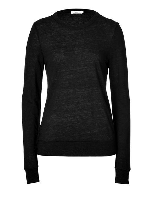 A.L.C. | Женское Черный Linen-Jersey T-Shirt Gr. M