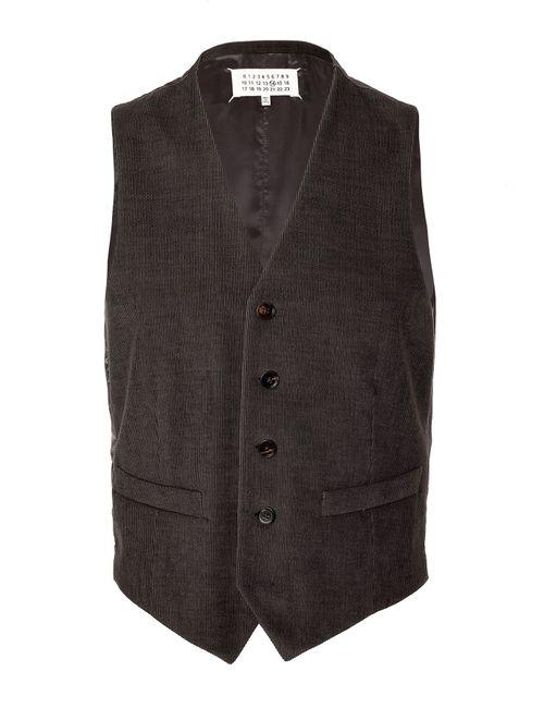 Maison Margiela | Серый Cotton-Flax Vest Gr. 48