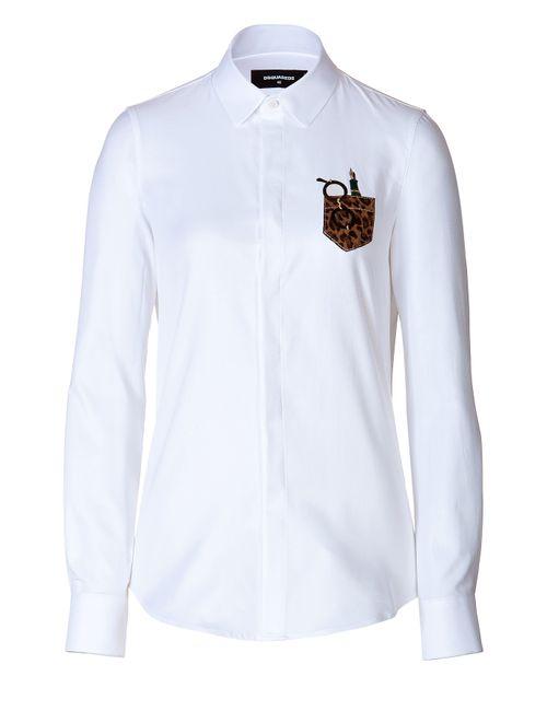 Dsquared2 | Женское Белый Cotton Embroidered Pocket Shirt Gr. 34