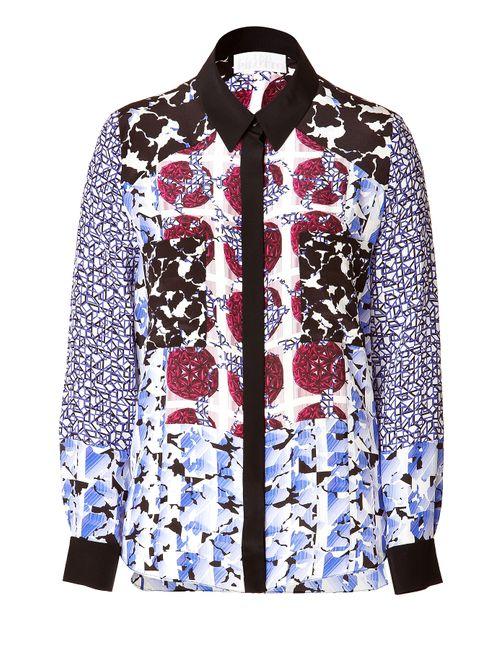 Peter Pilotto | Женское Многоцветный Printed Silk Shirt Gr. 36