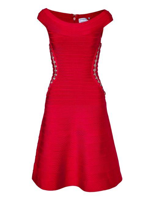 Hervé Léger   Женское Красный Bandage Dress With Embellished Cutouts Gr. S