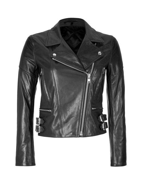 Victoria Beckham Denim | Женское Черный Leather Biker Jacket Gr. 8