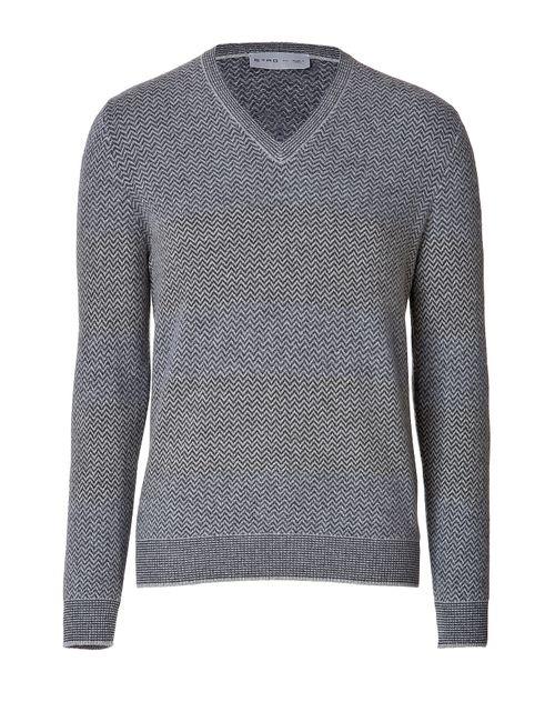 Etro | Мужское Серый Wool-Cashmere Pullover Gr. M