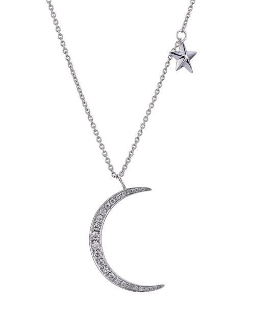 Anita Ko | Женское Серебристый 18kt White Gold Moon/Star Pendant Necklace With