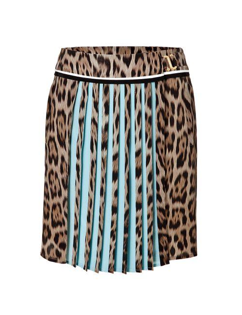Roberto Cavalli | Женское Animal Prints Silk Leopard Print Pleated Skirt Gr. It