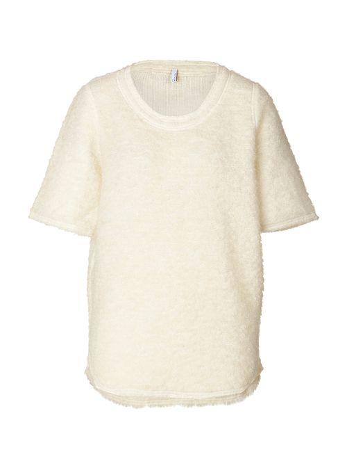 Faith Connexion | Женское Белый Boucle Short Sleeve Pullover Gr. M