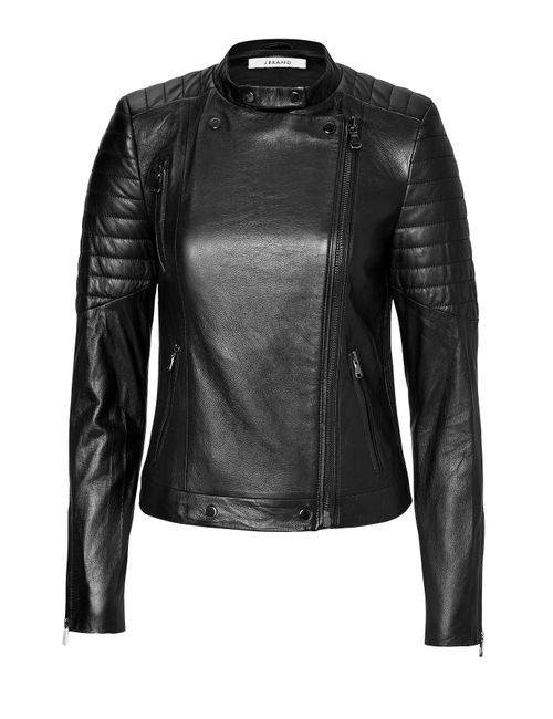 J Brand | Женское Чёрный Soft Leather Moto Jacket Gr. M