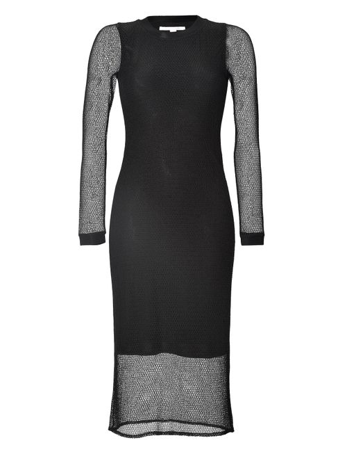 Jonathan Simkhai | Женское Чёрный Long Sleeve Mesh Midi-Dress Gr. M