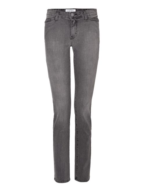CURRENT/ELLIOT + CHARLOTTE GAINSBOURG | Серый The Mid Rise Slim Straight Jeans Gr.