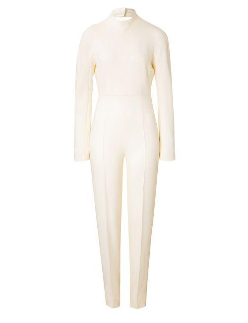 Emilia Wickstead   Женское Белый Wool Jumpsuit Gr. 8